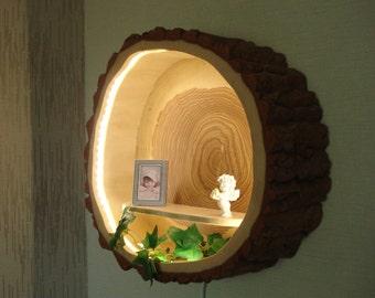 Tree trunk lamp wood lamp