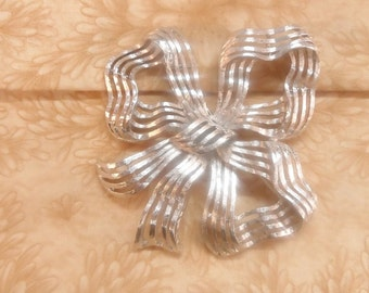 Monet silver tone brooch pin vintage jewelry large statment