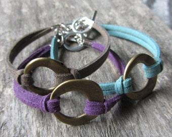 Asymmetrical circle Bracelet