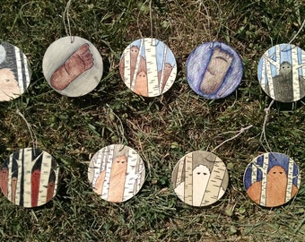 Sasquatch/Bigfoot Ornaments
