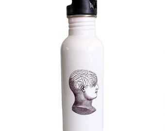 Water/Sports  Bottle - Phrenology Head