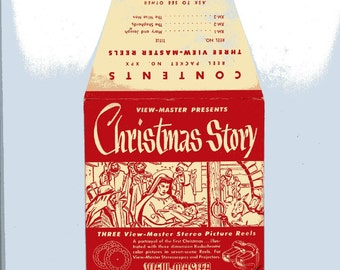 1948 copyright view-master reels, Christmas story. MX-1, 2, 3.