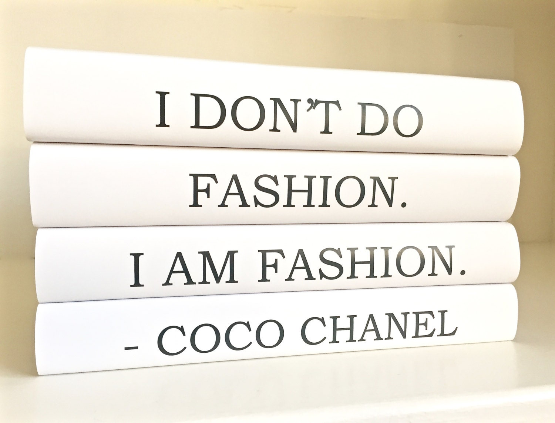 Fashion Book Cover Quotes : Fashion coco chanel books quote decorative by