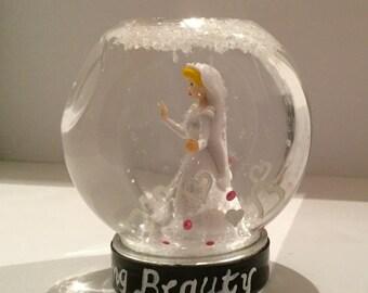 Personalized Sleeping Beauty Snowglobe - Disney Princess Snow Globe