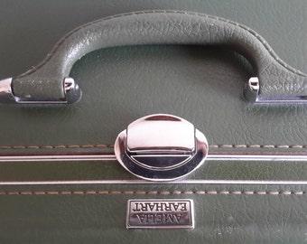 Vintage Amelia Earhart Green Suitcase.