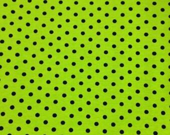 Knit Monster Green Small Dots Fabric 1/2 yard
