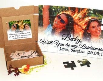 Bridesmaid puzzle, Bridesmaid photo puzzle, Bridesmaid proposal, Asking bridesmaid, Bridesmaid custom puzzle, Bridesmaid invitation