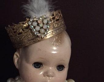 Santos Cherub Crown Gold filigree jeweled