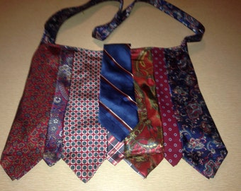 Red & Blue tie purse