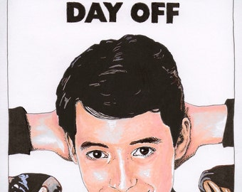 Ferris Bueller's Day Off - A5 Illustration