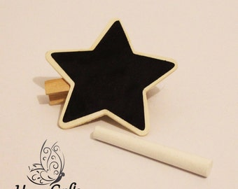 Chalk Board Memo Peg - Star