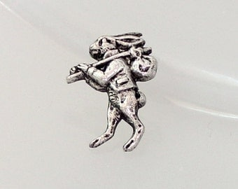 1pcs--Vintage,Vagabon Rabbit, Pins, Antique Silver, 15x20mm (B51-32)