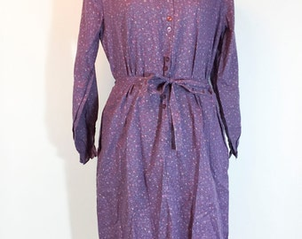 NWT Vintage Dress Purple Dress Flower Dress Lavender Dress 1960s Dress Purple Pink Floral Dress Cotton Dress Prairie Dress Floral Dress Fa