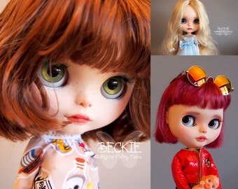 CUSTOM BLYTHE doll SERVICE (base doll not included! )- themed, character or just a special girl - different options available