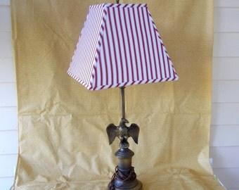 Vintage Brass Eagle Table Lamp