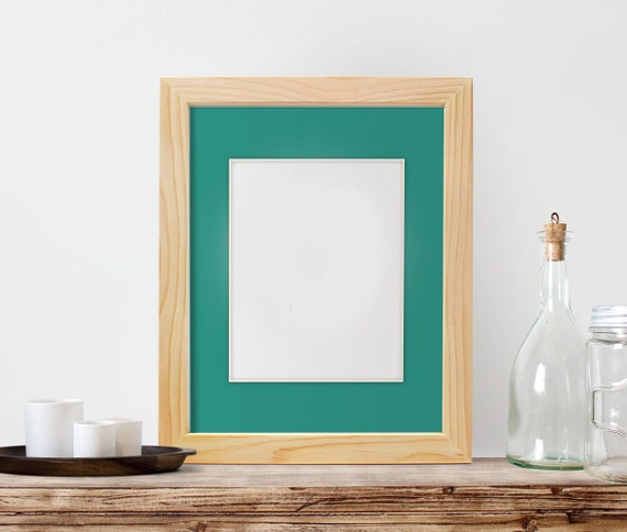 11x14 Frame With 8x10 Mat Unfinished Wood By