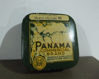 Vintage Panama Commercial Brand Typewriter Ribbon Tin FREE SHIPPING