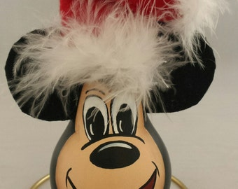 Hand-Painted Mickey Mouse Recycled Light Bulb Ornament