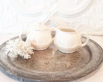 Creamware Sugar & Creamer Set