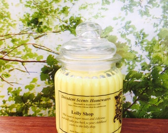 Lolly Shop Scented Soy Candle