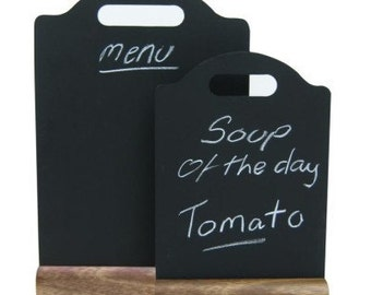 Table Menu Chalkboards. Chalk board. Blackboard. Tabletop menu.  - 27026 27027