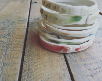 Hand Crafted Porcelain Bangles