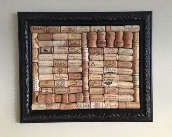 Framed Wine Corkboard