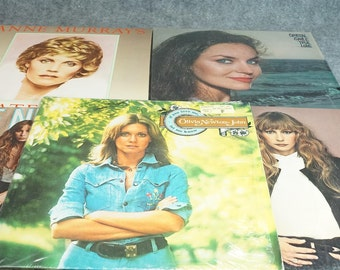 Collection Of Five Vinyl Records Featuring If You Love Me Let Me Know By Olivia Newto John