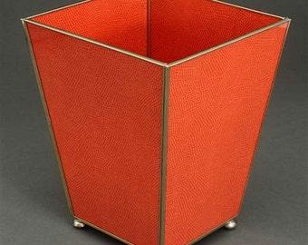 Mirror and Glass, Orange Lizard Waste Basket