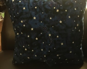 Glow in the dark galaxy pillow