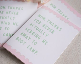 Funny Mother's Day Card, Mother's Day Greeting Card, Snail Mail, I love you mom, Snarky Mom's Card, Gifts for Mom, Humorous Cards