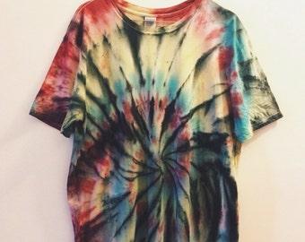 Spider Spiral Tie-dye T-shirt