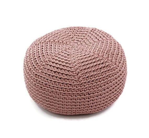 Cocoa Crocheted Kid Size Pouf Poliester By Sanfateinterior