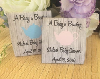 baby shower themes for girls, Baby shower tea party, baby shower tea favors, baby shower tea party favors, tea packets, tea kettle