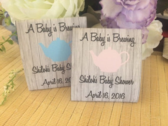 40 Personalized Tea Packets, baby shower tea favors, baby shower tea party favors, tea party baby shower favors, baby shower tea packets