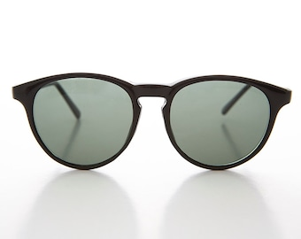 Hipster Pantos Indie Retro P3 Horn Rim Black or Brown Tortoiseshell Sunglasses - Preston