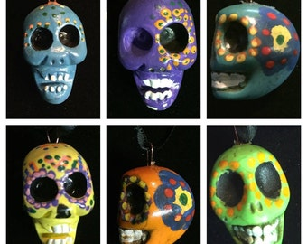 Hand Painted Skull Ornaments