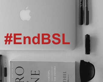 End BSL sticker iPhone Car Laptop Vinyl Decal Sticker pitbull sticker dog decal pit bull bsl decal with heart