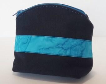 Mini-Cosmetic Bag - Zippered Mini-Pouch - Small Size