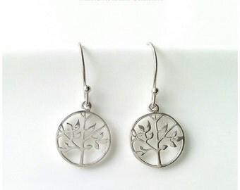 Tree of life earrings Silver 925 - dangling earrings Silver 925/000 - tree of life earrings, 925 silver sterling