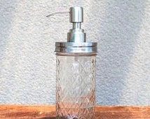 Ball Mason Jar Pump Lid for soap or lotion. Stainless Steel Soap Dispenser Pump Lid.