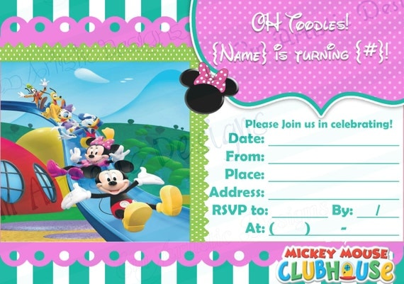 Items similar to DIGITAL DOWNLOAD} Girly Mickey Mouse ...