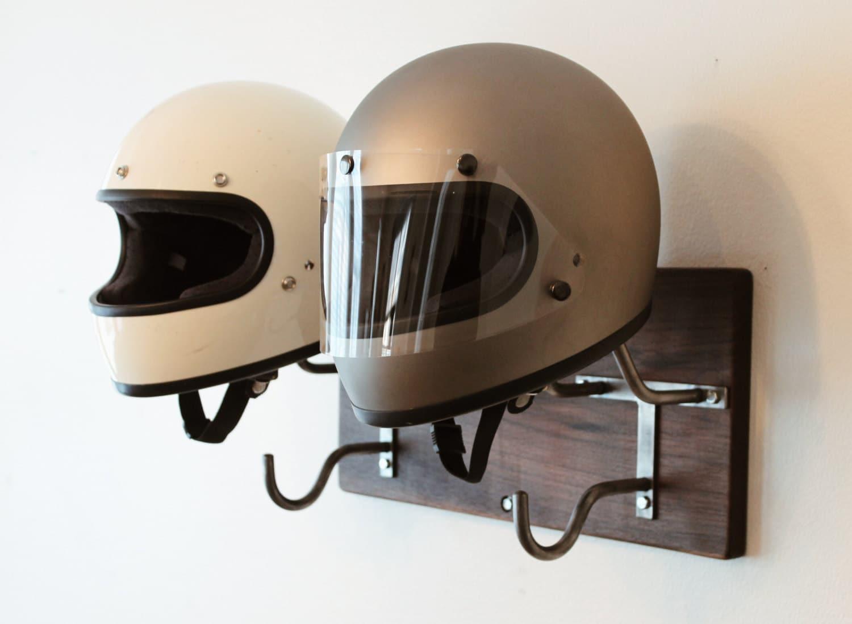 Double Handmade Helmet Rack Amp Jacket Hook