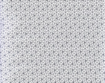 White Geo Grid - Sevenberry fabric Fat Quarters 100% cotton quilting dressmaking UK shop low volume fabric