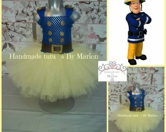 Fireman Sam tutu dress firefighter