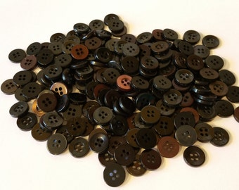 CLEARANCE 200 Vintage Black and Gasoline Color Loose Buttons Lot