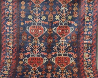 Semi Antique Guldan Flower Tribal Carpet