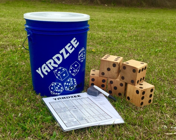 Yardzee, Lawn Dice, Yard Yahtzee, Yard Yatzee, Yard Games, Yard Dice, Giant Yahtzee, Lawn Yahtzee, Lawn Games, Outdoor Games