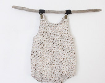 Small brown flower romper