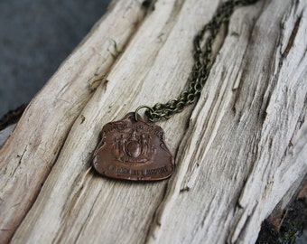 Vintage New York Int'l Airport Fob Necklace